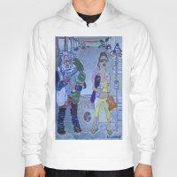 santa monica Hoodies featuring Santa Monica by Robert E. Richards