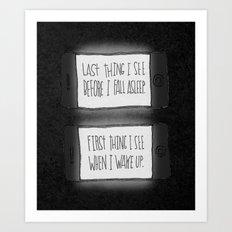 EYESIGHT FAILING Art Print