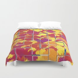 Squares Red & Yellow Abstract Duvet Cover
