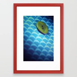 button Framed Art Print