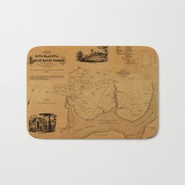 Map Of Mount Vernon 1859 Bath Mat