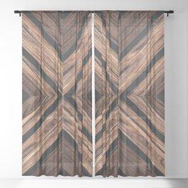 Urban Tribal Pattern No.3 - Wood Sheer Curtain