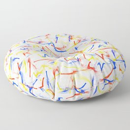 Red, Yellow, Blue Fun Confetti Pattern Floor Pillow