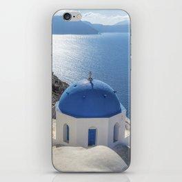 Santorini island in Greece iPhone Skin