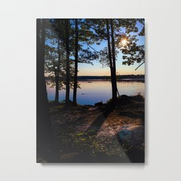 Camping on Lake Pemaquid in Damariscotta, Maine Metal Print