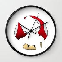 super mario Wall Clocks featuring Super Mario by SEANLAR94