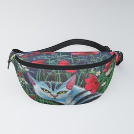 Cat in the Night Fanny Pack