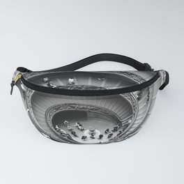 Vatican spiral staircase black and white Fanny Pack