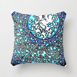 Blue Fire (2) Throw Pillow