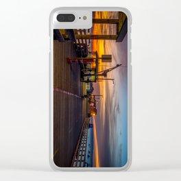 Sunrise on the Pier Avila Beach California Clear iPhone Case