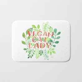 Vegan cat lady Bath Mat