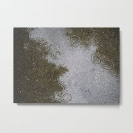 When It Rains Metal Print