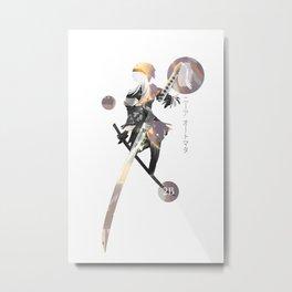 NieR: Automata katana 2B Metal Print