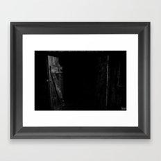 Spooky Doors Framed Art Print