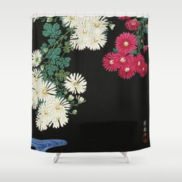 Ohara Koson - Chrysanthemums Shower Curtain