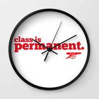 arsenal Wall Clocks featuring Class is permanent by joe3428