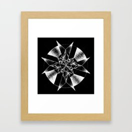 Inverted Crystalline Compass Framed Art Print