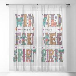 Wild & Free Spirit Sheer Curtain