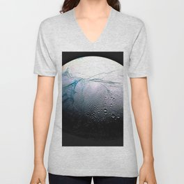 Saturn's moon Enceladus Space Mission Fly-by Photograph No. 3 Unisex V-Neck