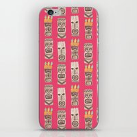 tiki iPhone & iPod Skins featuring Tiki by Abby Galloway
