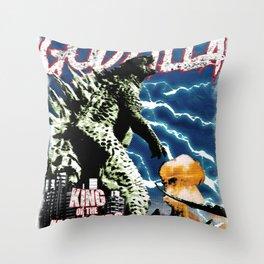 Godzilla War II Throw Pillow