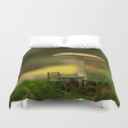 Mushroom With Tiny Table & Chairs... Duvet Cover