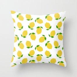 LEMON LEMONS FRUIT FOOD PATTERN Throw Pillow