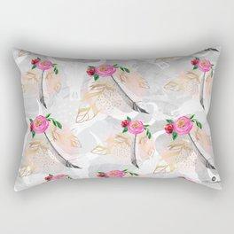 Romantic boho skull pattern Rectangular Pillow