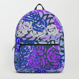 Colorful Overlapping Roses on Roses Print Design 3 Backpack