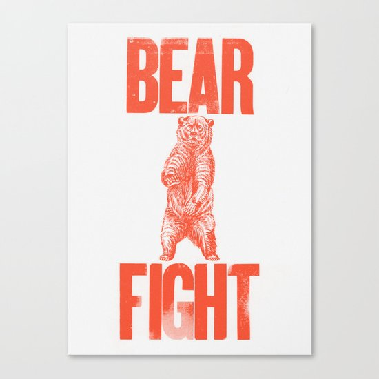 Bear Fight Canvas Print