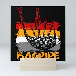 Retro Bagpipe Mini Art Print