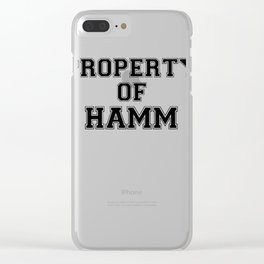 Property of HAMM Clear iPhone Case