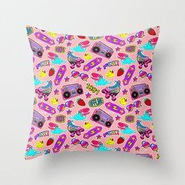 Back to the nineties! Peach Throw Pillow