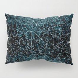 Polygonal blue and black Pillow Sham