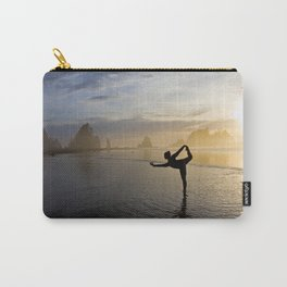 Yoga at Shi Shi Beach, Washington Color Carry-All Pouch
