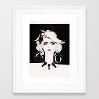 blondie Framed Art Prints featuring Blondie by Christopher Morris