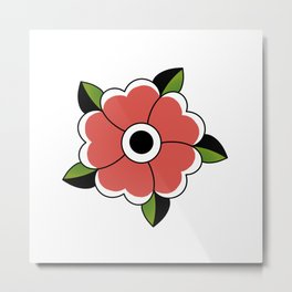 Traditional Flower Metal Print