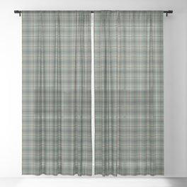 Craig Tartan Plaid Sheer Curtain