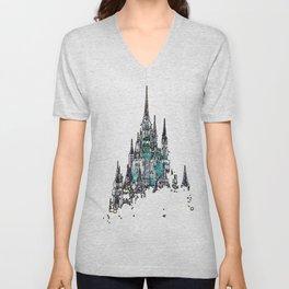 Cinderella Castle Unisex V-Neck