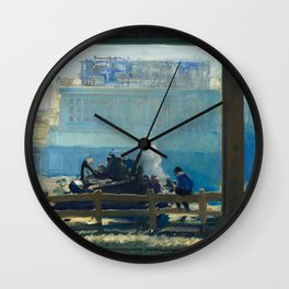 Blue Morning, 1909 by George Bellows Wall Clock