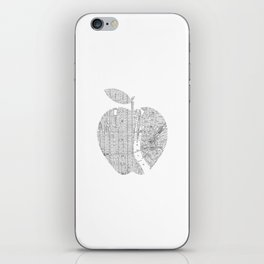 New York City big apple Poster black and white I Heart I Love NYC home decor bedroom wall art iPhone Skin