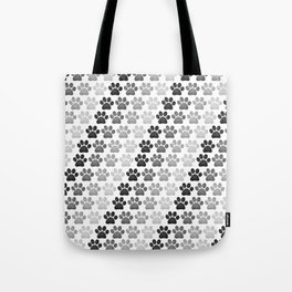 Paw Prints Pattern Tote Bag