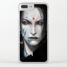 Kamoril portrait Clear iPhone Case