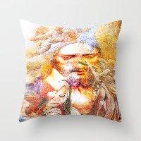 faith Throw Pillows featuring Faith by Joe Ganech