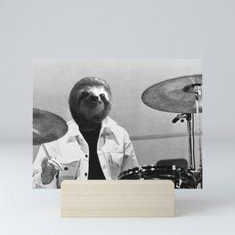 Sloth Drummer Mini Art Print
