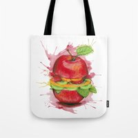 burger Tote Bags featuring burger by Boho déco