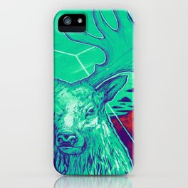 Stag Dimension of Teal iPhone Case