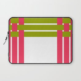 The intertwining pink and green ribbons Laptop Sleeve