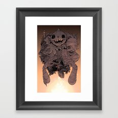 Tell me a scary story  Framed Art Print