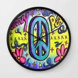 Groovy Peace Wall Clock